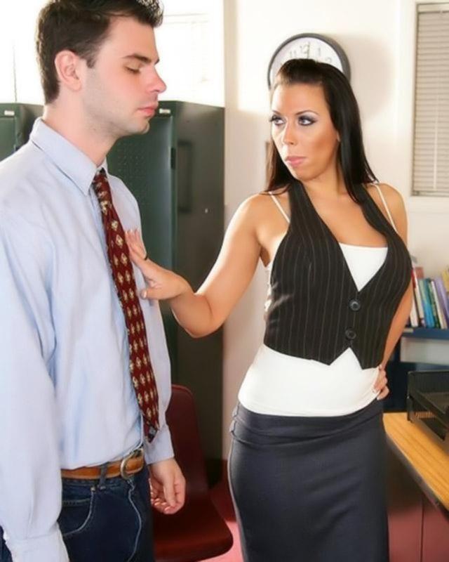 Учительница географии показала молодому человеку свои таланты в сосании члена