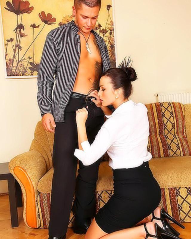 Порно фото анала с сексапильной репетиторшей английского